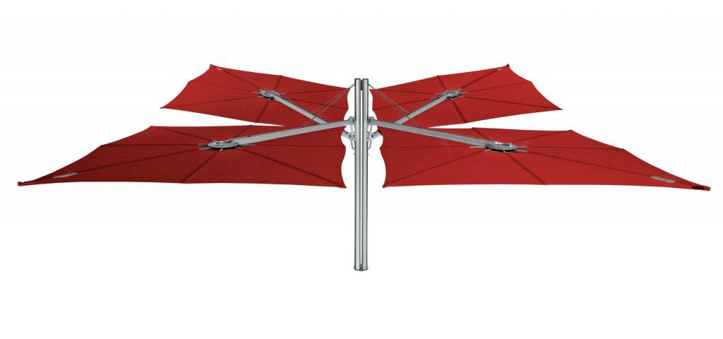 Parasol 4 piliers 4 parasols Spectra Duo et Multi UMBROSA