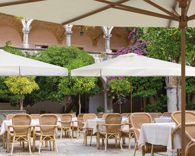 Grand parasol design en bois Palladio Telescopic SCOLARO