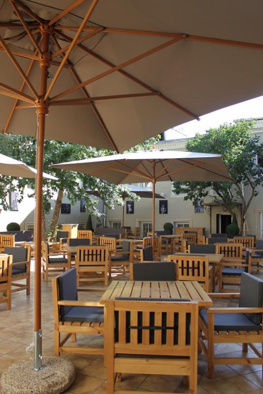 Parasol en bois pour restaurant Palladio Telescopic SCOLARO