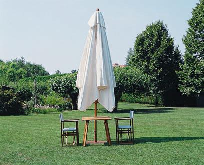 Parasol bois rond 5m 5 mètres Palladio Telescopic SCOLARO