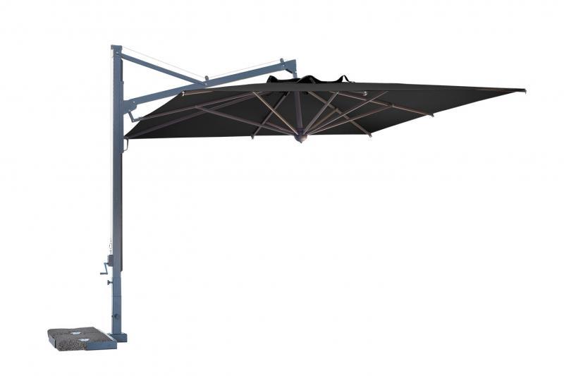 Parasole a sbalzo quadrato 3x3m Galileo Dark SCOLARO