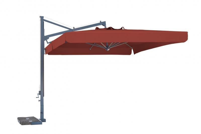 Ombrellone laterale rettangolare 3x4m Galileo Dark SCOLARO