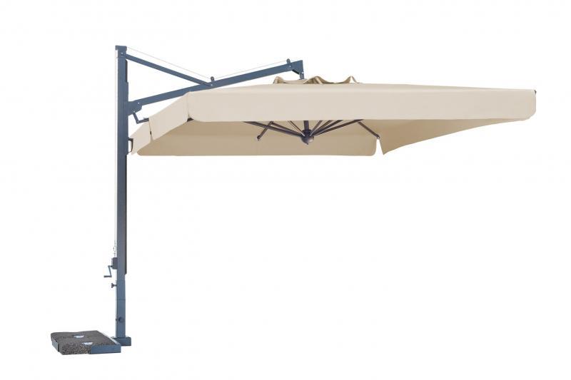 Ombrellone per piscina ad albero laterale Galileo Dark SCOLARO