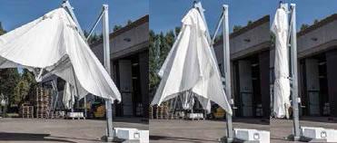 Parasol déporté luxe Galileo Starwhite ou Inox SCOLARO