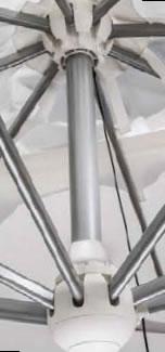 Parasol déporté carré 400x400cm Galileo Starwhite ou Inox SCOLARO