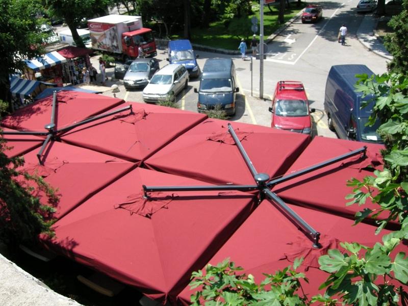 Ombrellone 1 polo 4 tele per terrazza Alu Poker Scolaro SCOLARO