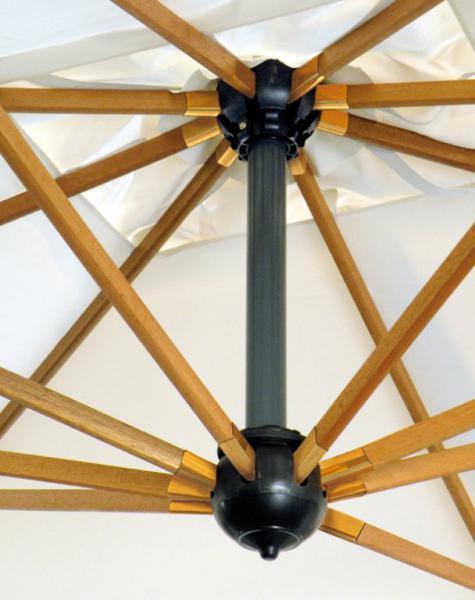 Grande parasole ad albero laterale Palladio Braccio SCOLARO