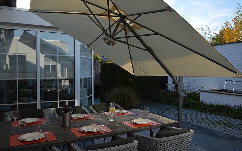 Parasol excentré pour jardin maison piscine Cielo Pro SOLERO