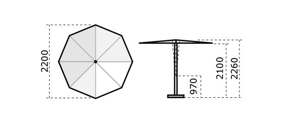 Parasol rond terrasse Revo SCOLARO