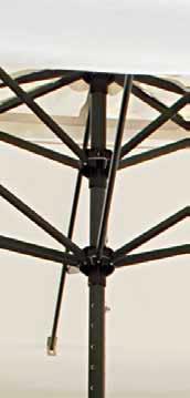 Parasol alu rond 3.55m 5 mètres Leonardo Telescopic SCOLARO